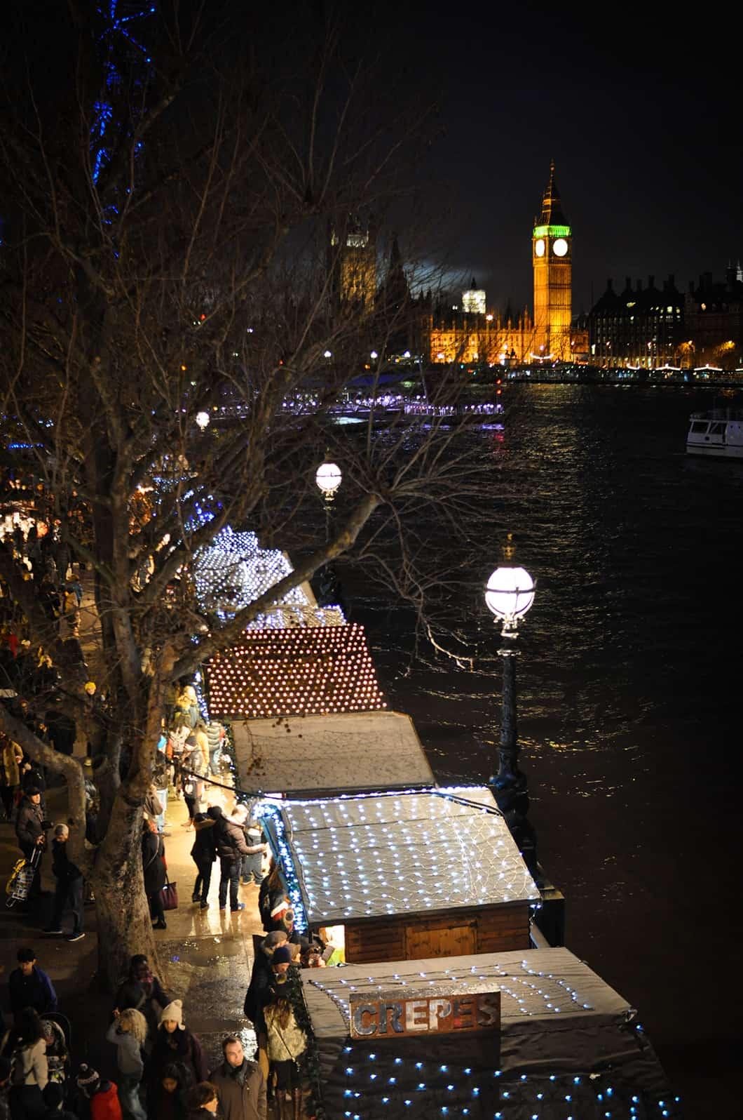 Marché de Noël sur la Tamise