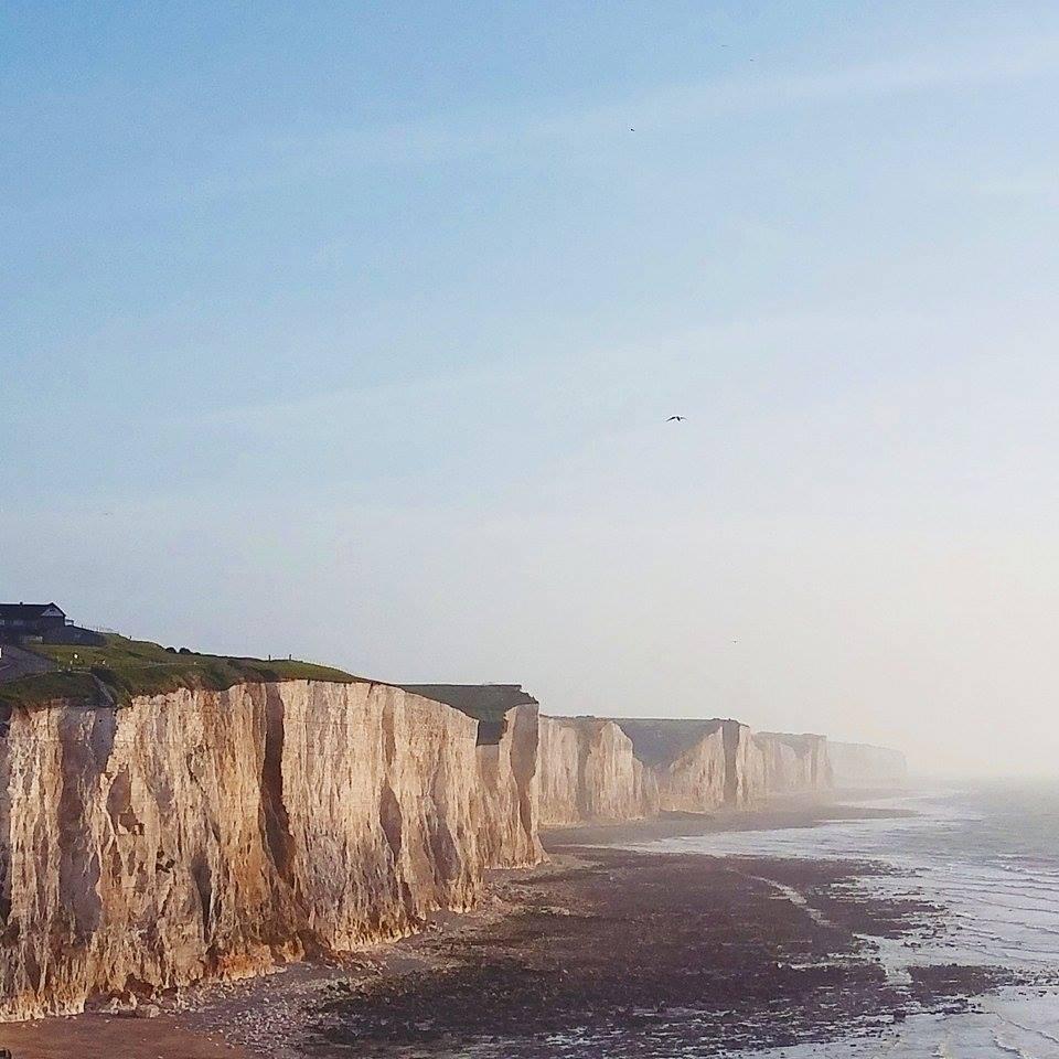 Les falaises de la Baie de Somme