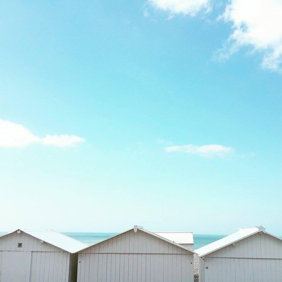 Les cabanes de plage de la Baie de Somme