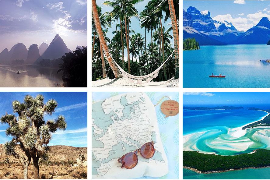 voyageurs français sur Instagram