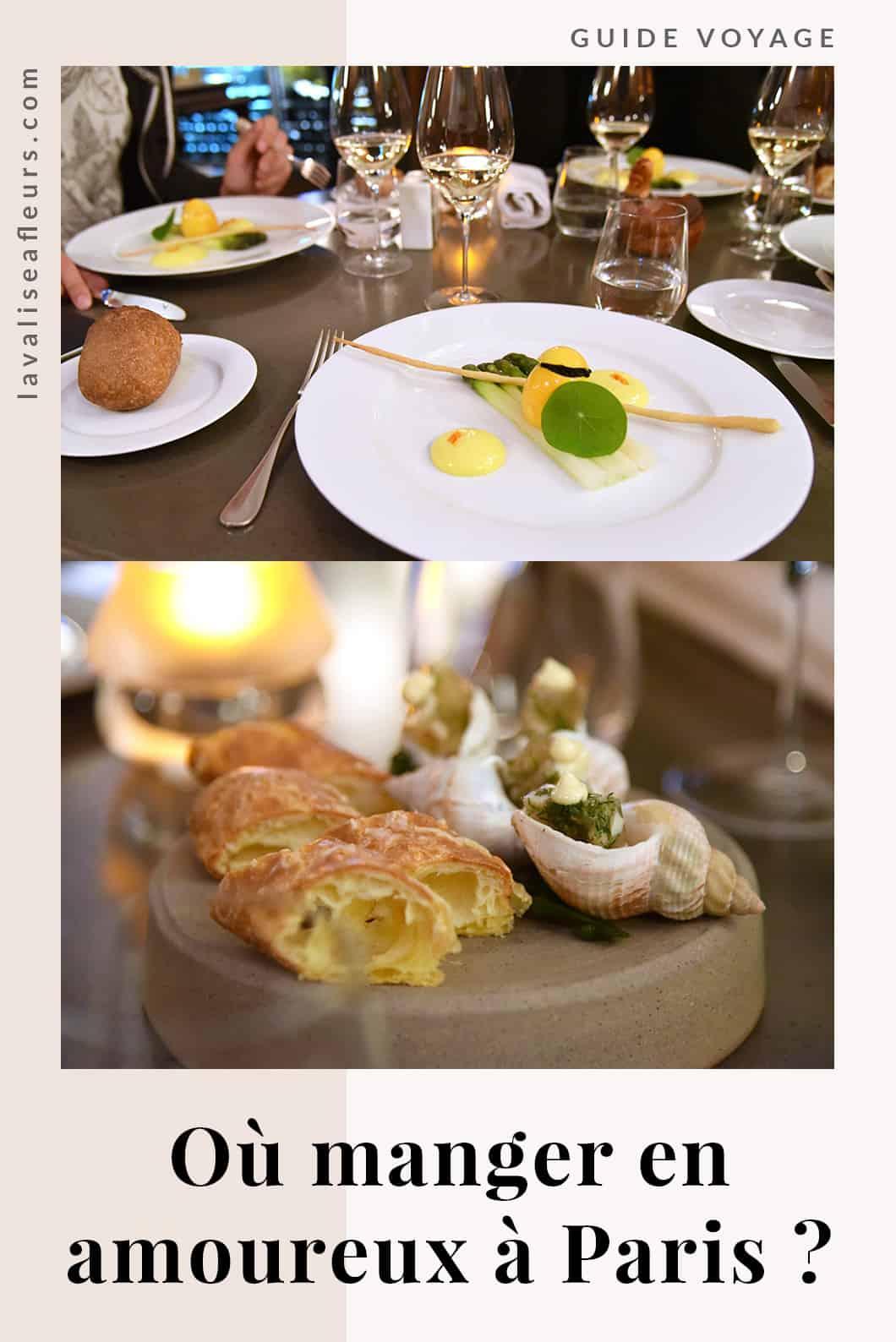 Où manger en amoureux à Paris ?