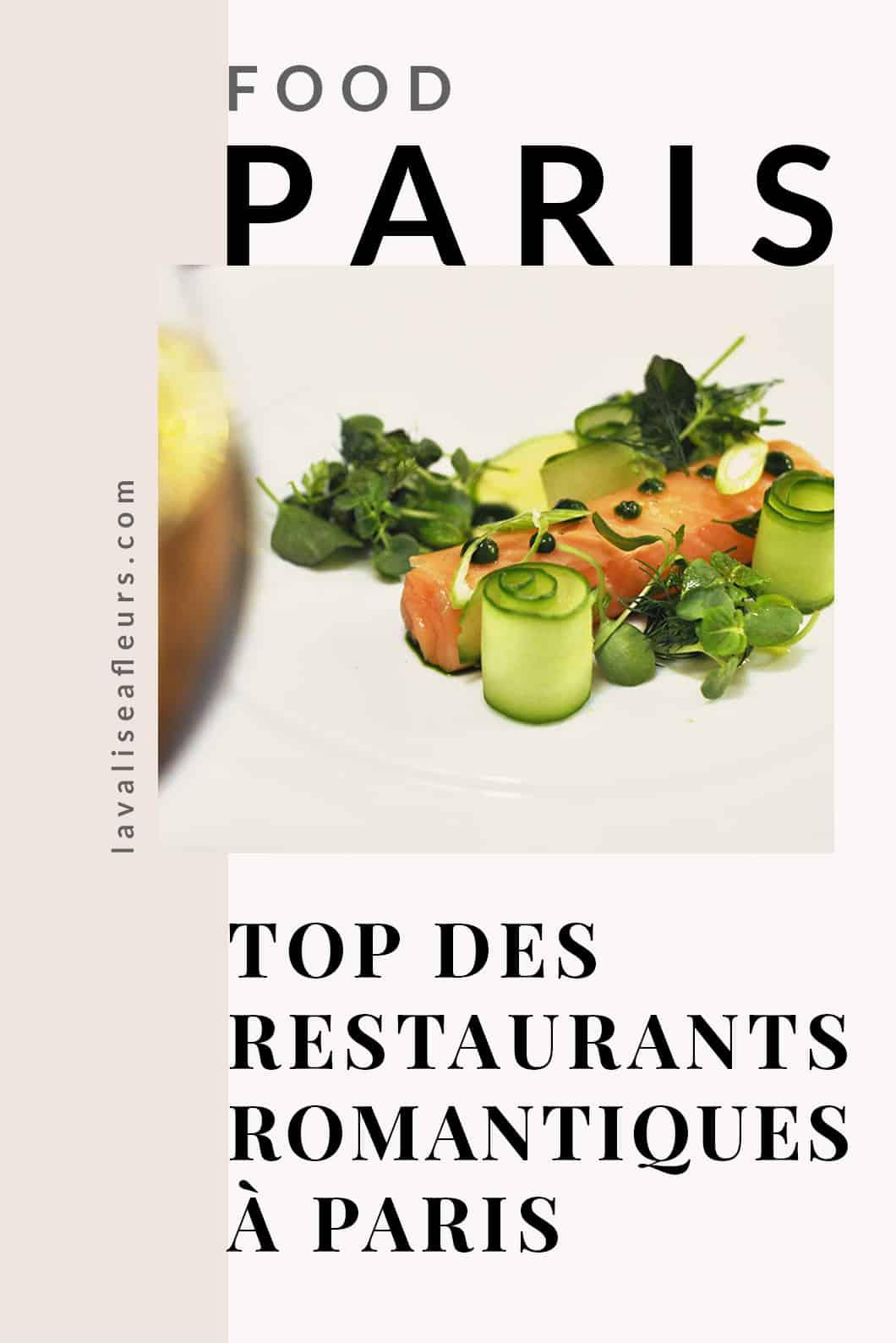 Top des restaurants romantiques à Paris