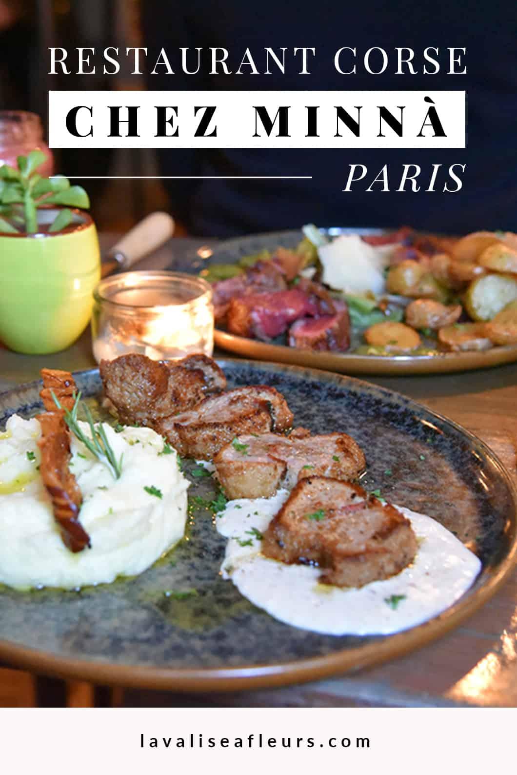 Chez Minnà, restaurant corse à Paris