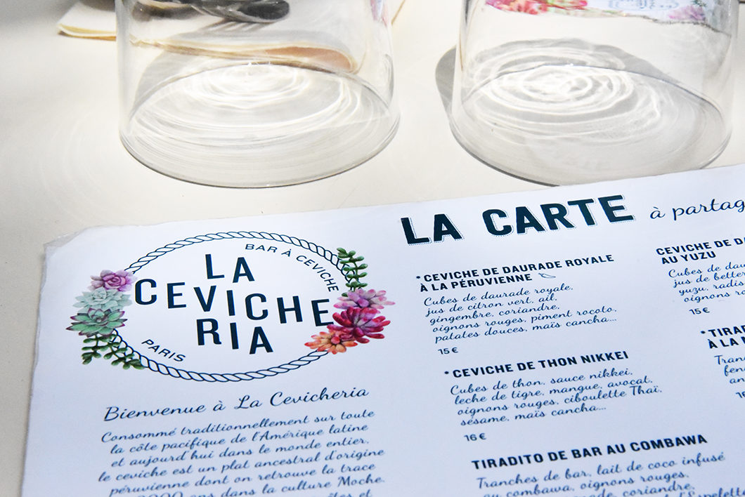 Cevicheria - top restaurants péruviens Paris