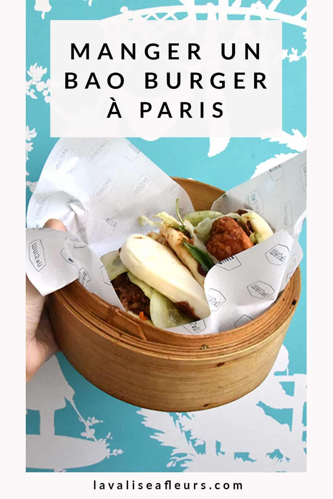 Manger un bao burger à Paris