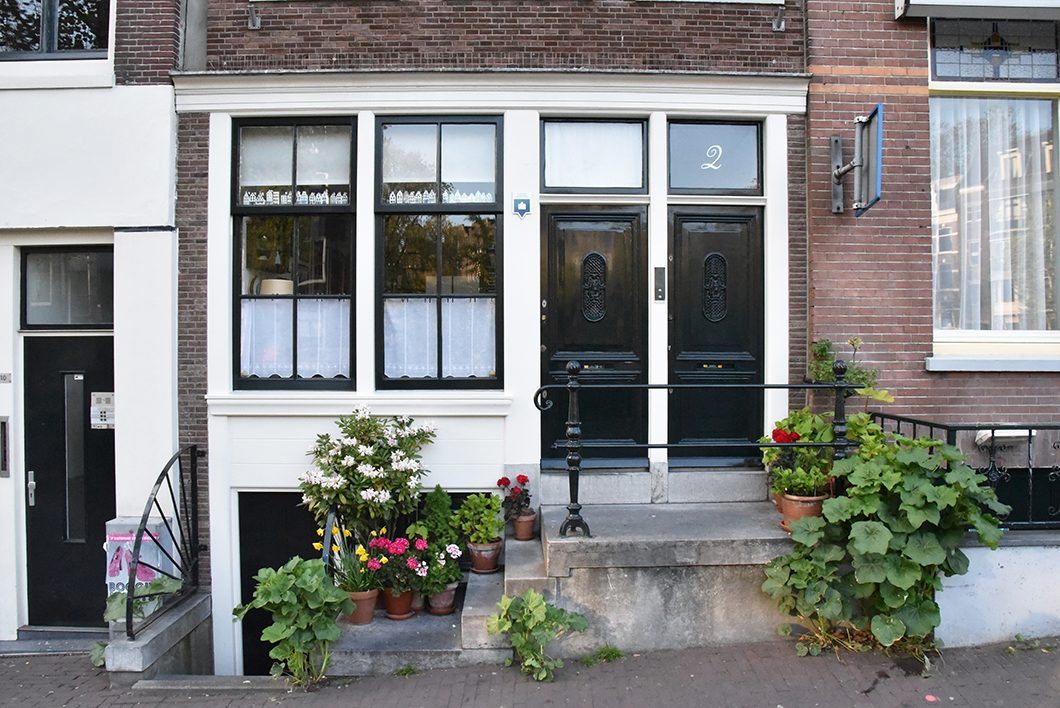Rue fleurie à Amsterdam