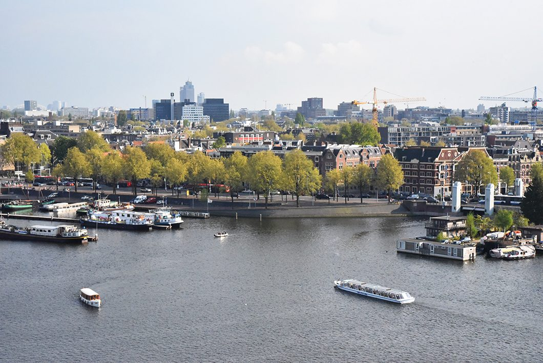 Vue sur Amsterdam depuis la Bibliothèque publique d'Amsterdam