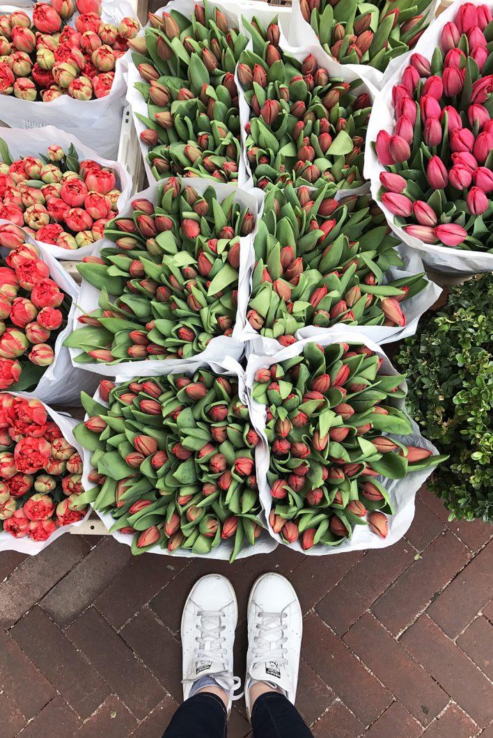 Le marché aux fleurs de Amsterdam