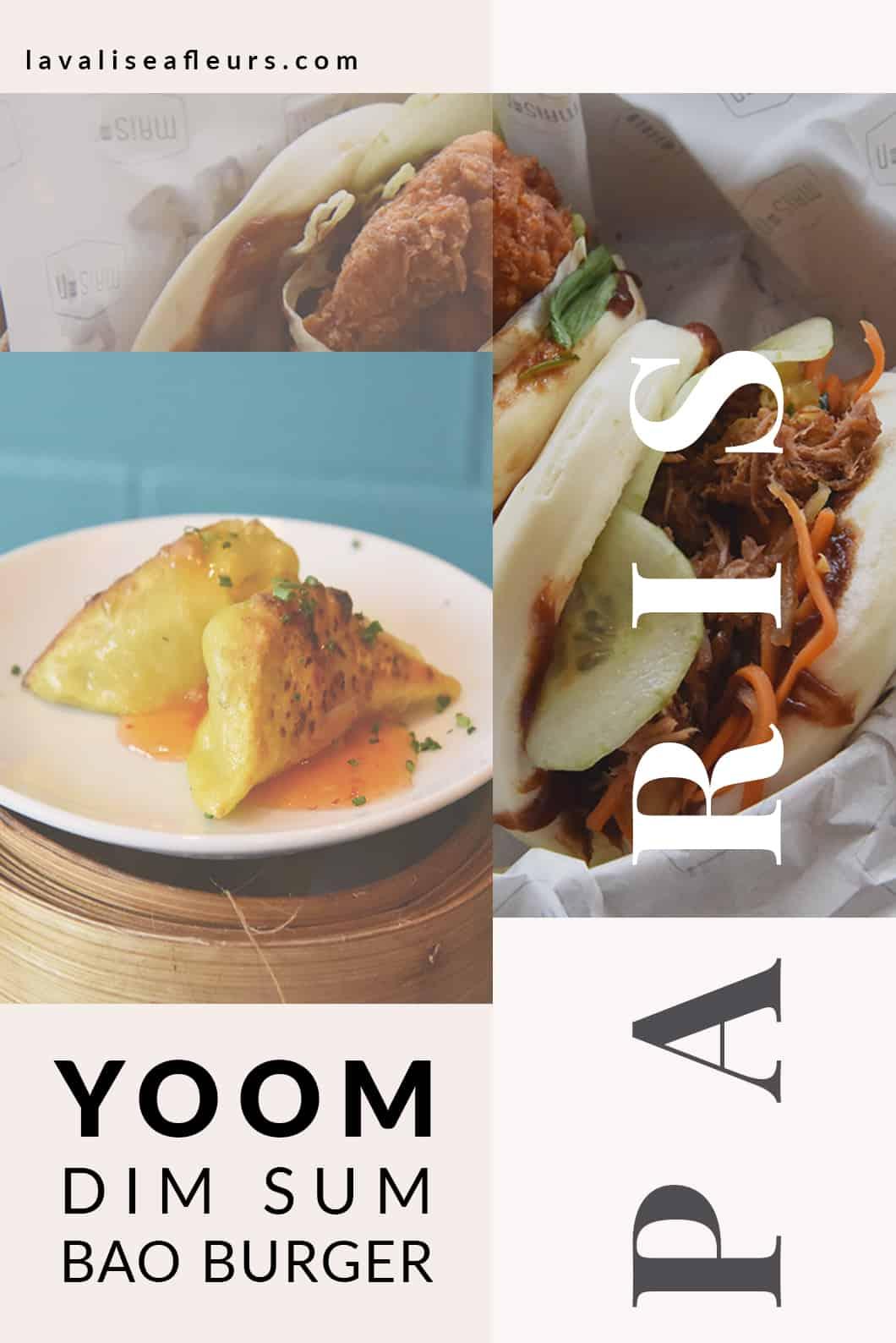 Yoom, restaurant de dim sum et bao burger à Paris