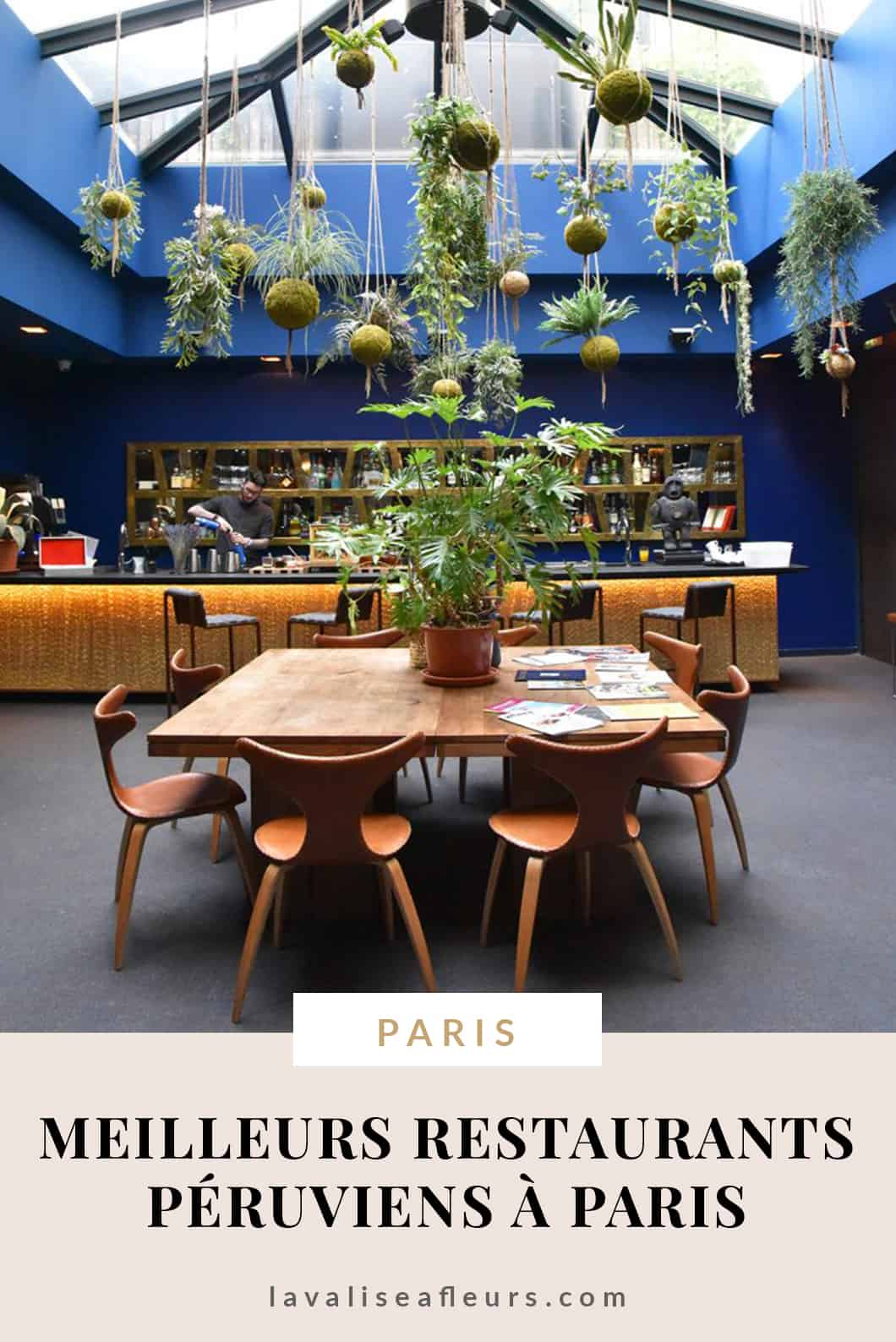 Les meilleurs restaurants péruviens de Paris