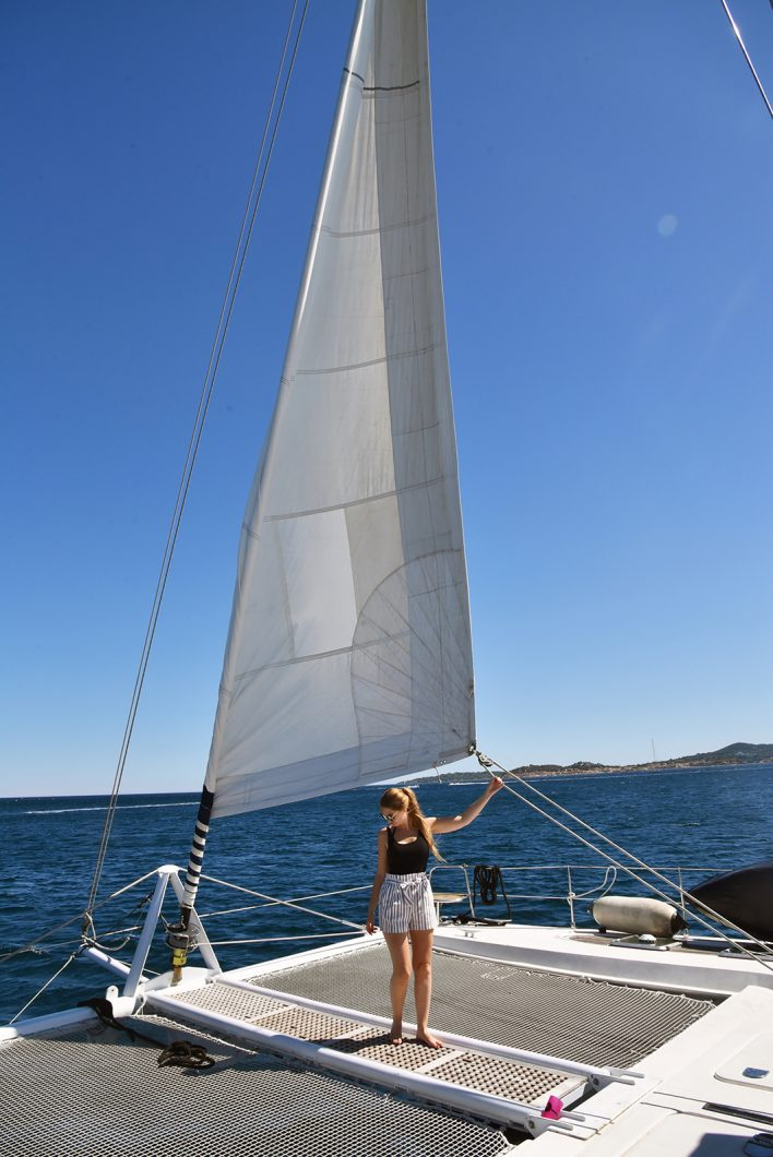 Côte d'Azur - Cogolin Saint-Tropez en catamaran
