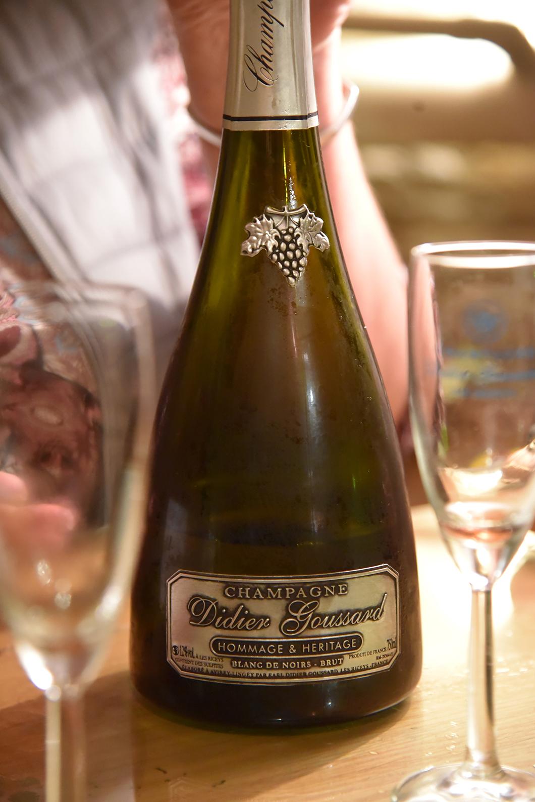 Dégorgement et dégustation chez Champagne Didier Goussard