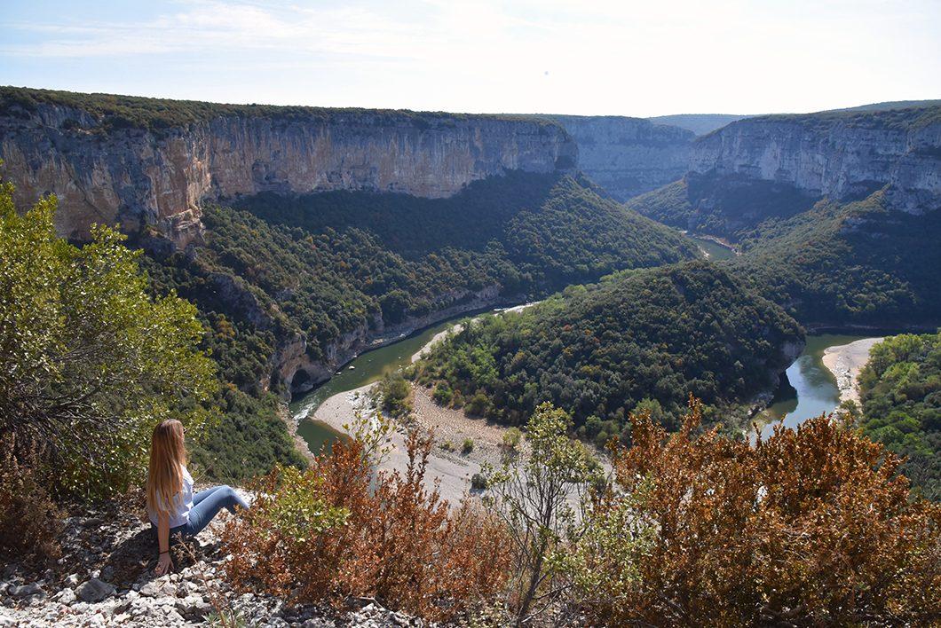 Point de vue de la route des Gorges de l'Ardèche