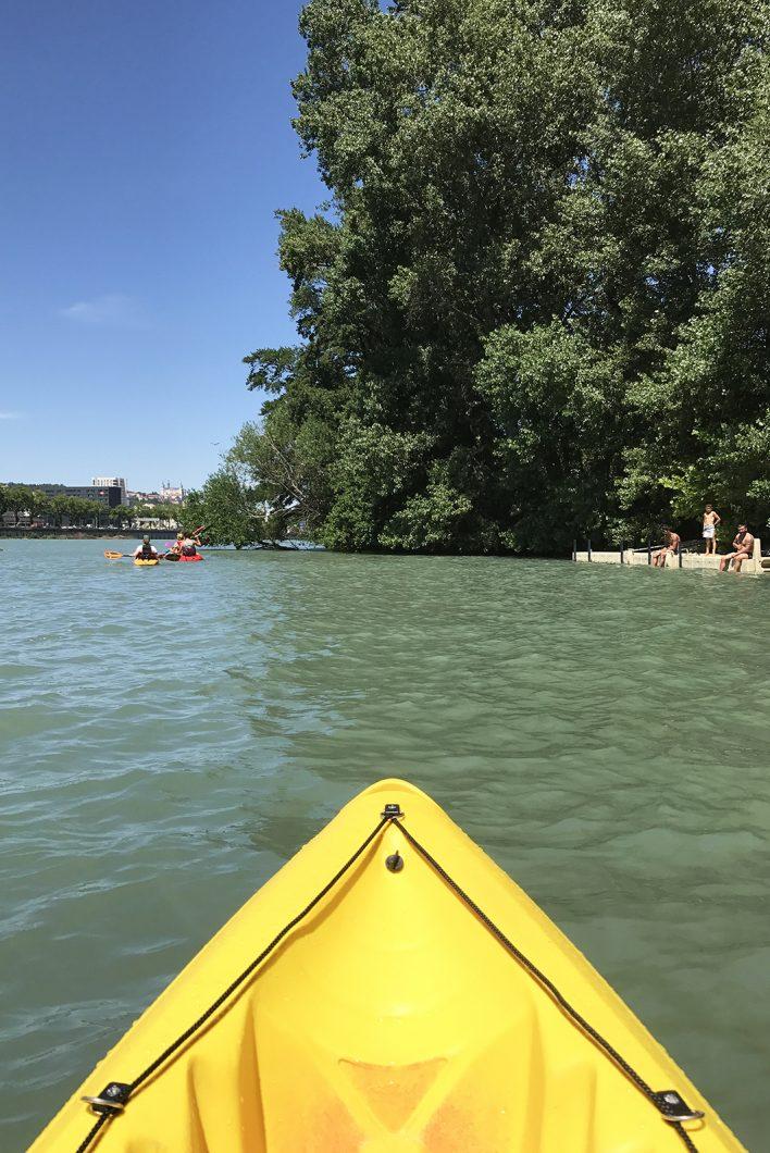 balade en canoë sur le Rhône à Lyon - un week end à Lyon