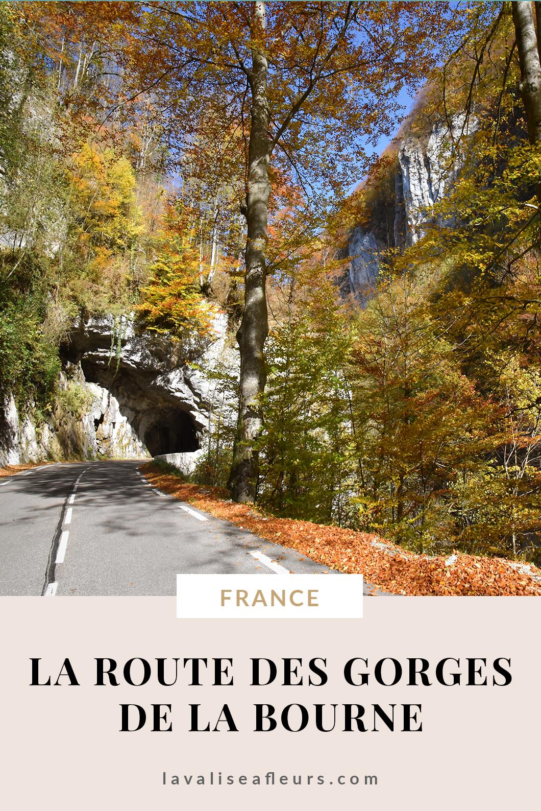 La route des gorges de la Bourne en France
