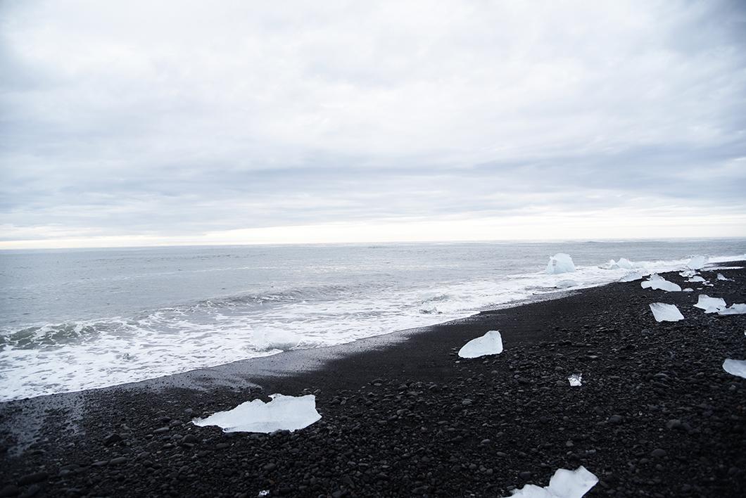 Diamond beach - Jökulsárlón - Plage sable noir Islande