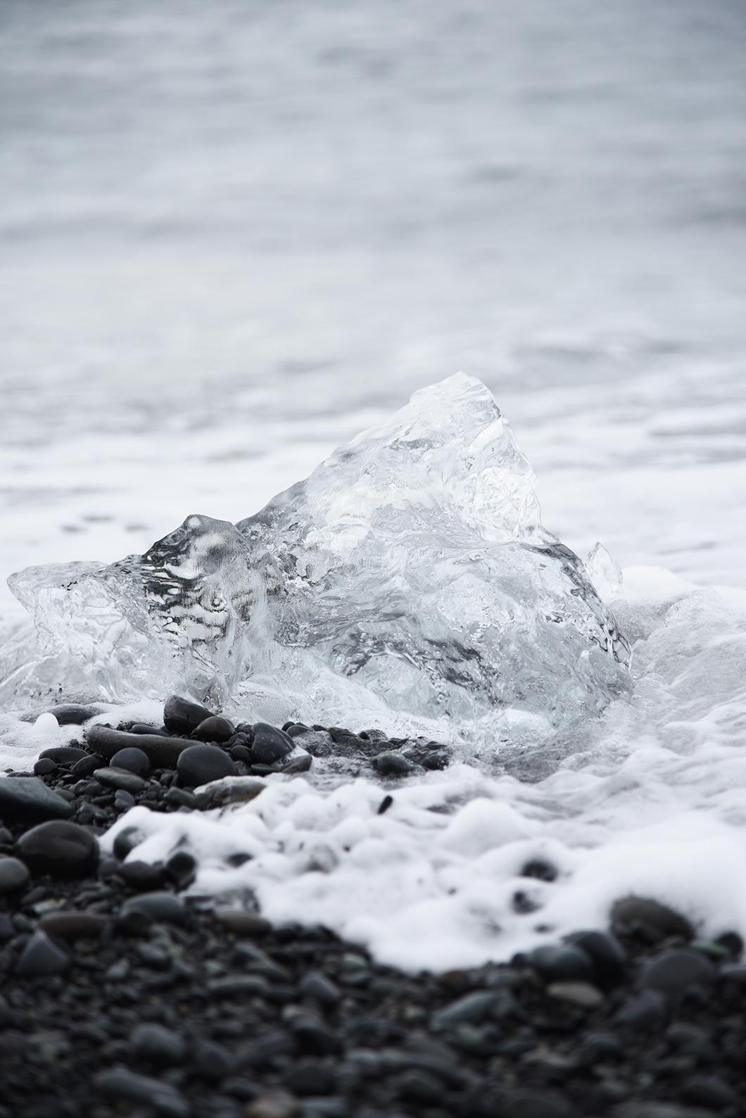 Diamond beach à Jökulsárlón - Top plages Islande