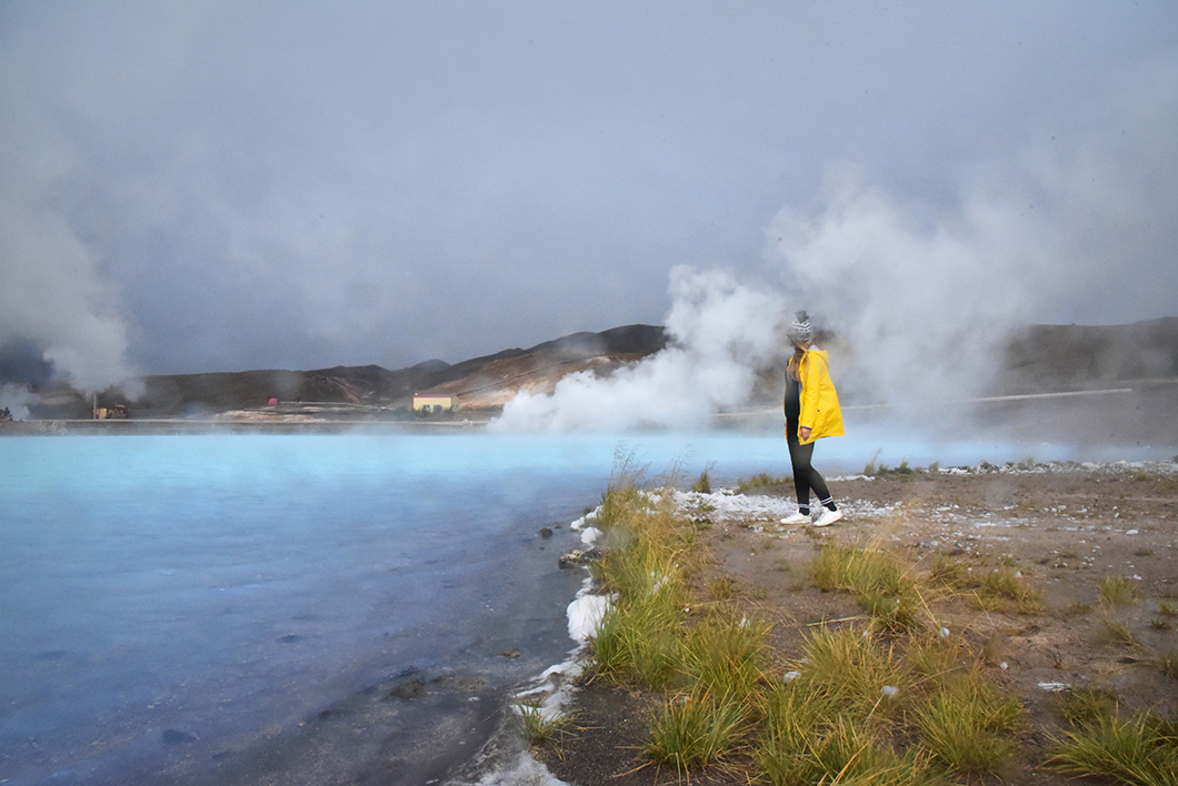 Blue lake Myvatn