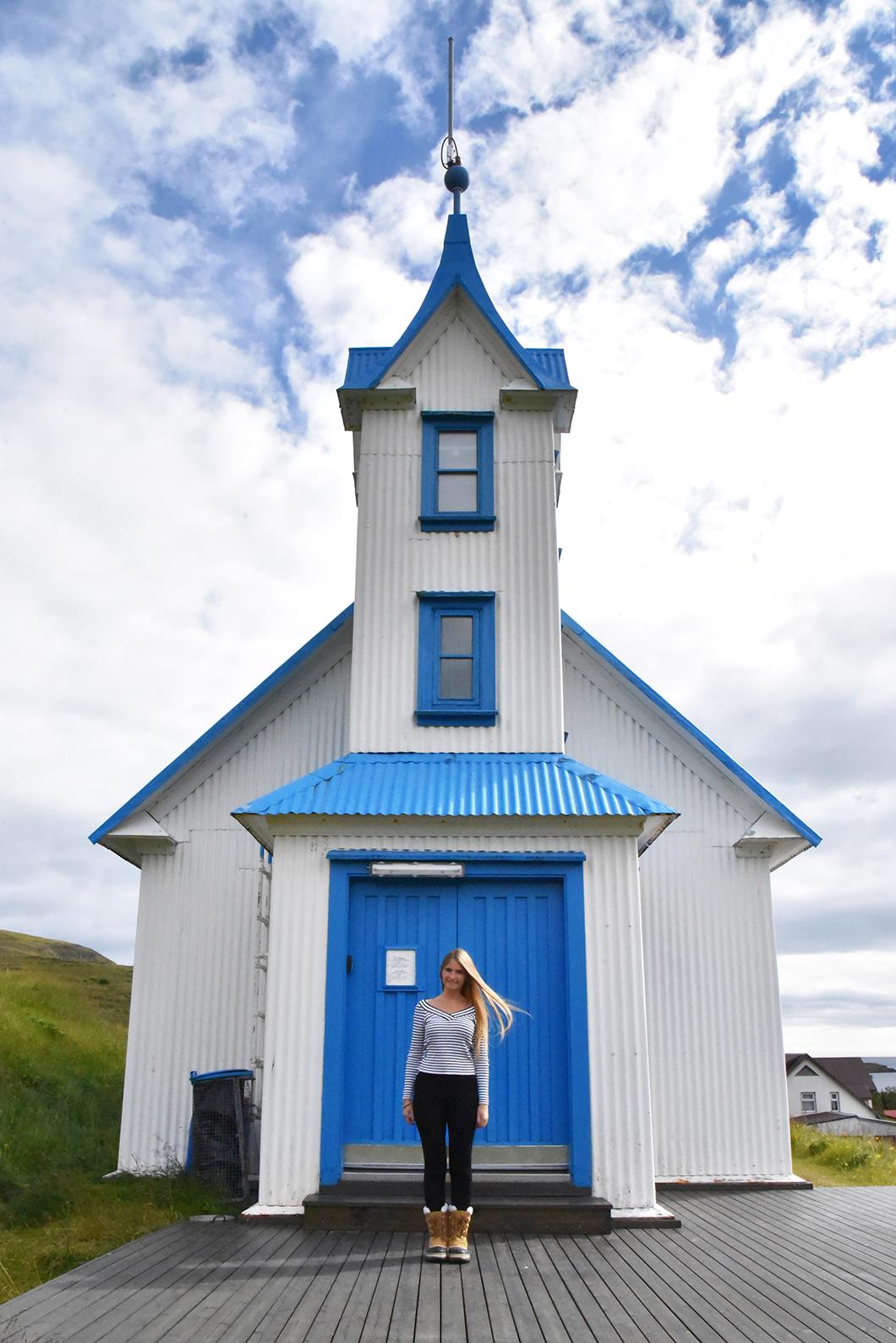 Eglise bleue Kirkjubær - Stöðvarfjörður