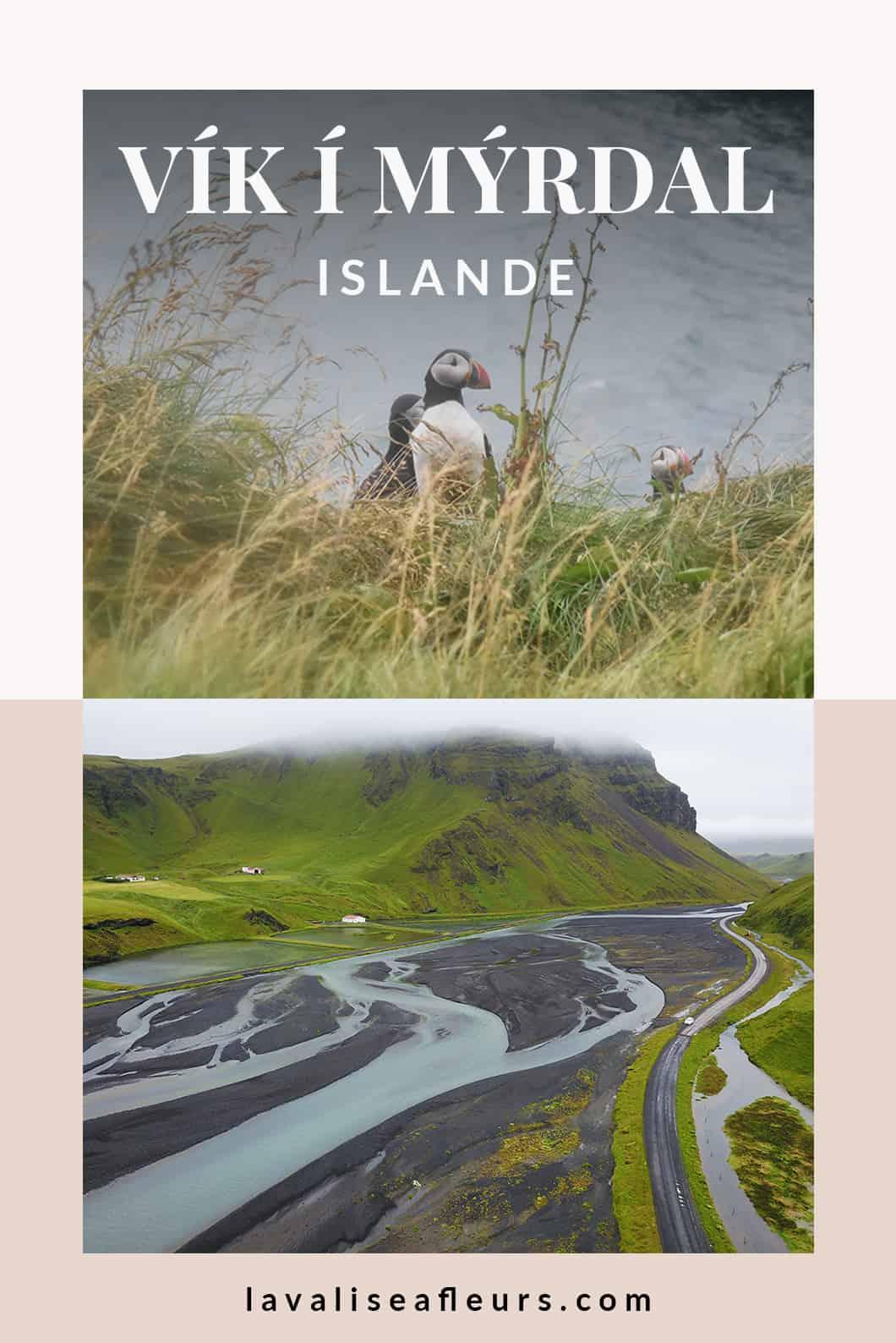 Visiter Vík í Mýrdal et sa plage de sable noir en Islande
