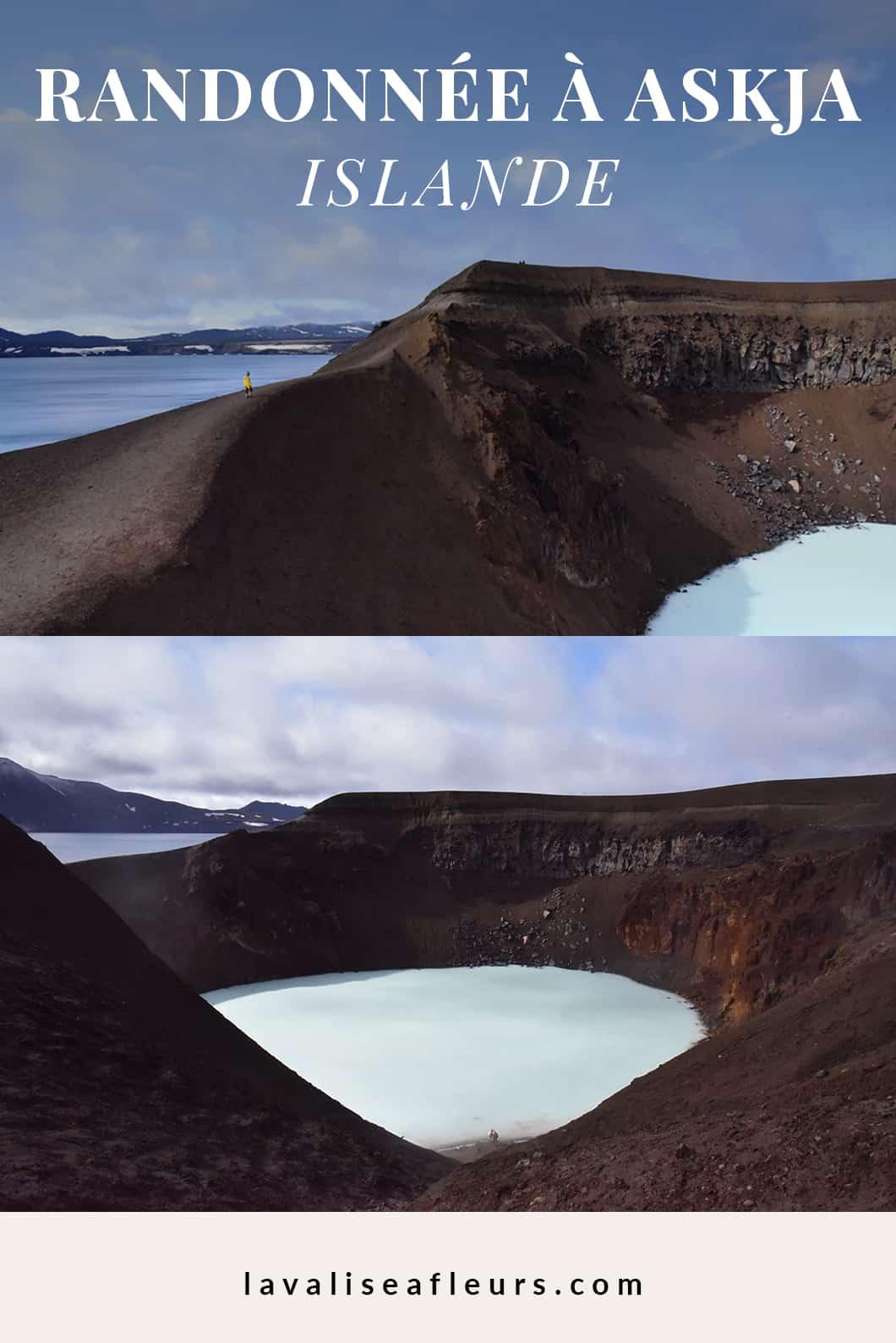 Faire la randonnée à Askja en Islande