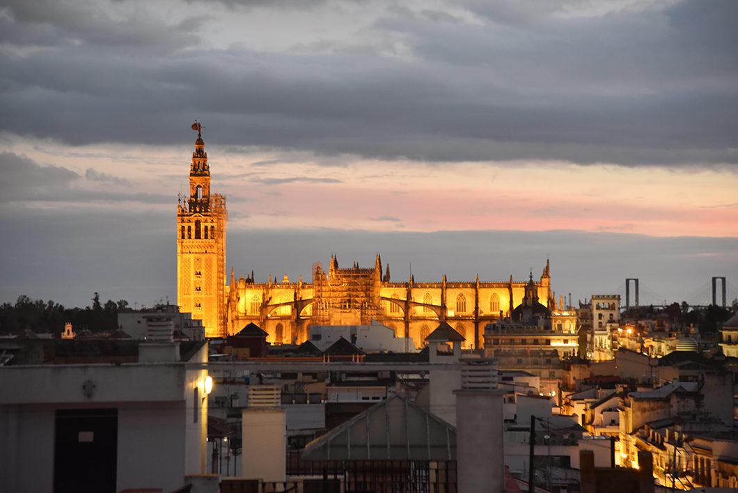 Rooftop de notre airbnb à Séville