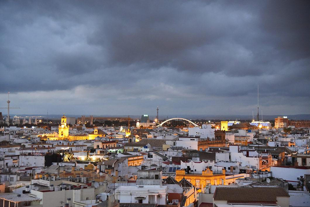 Vue sur la ville de Séville depuis notre airbnb