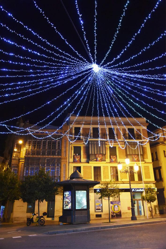 Les lumières de Noël à Séville