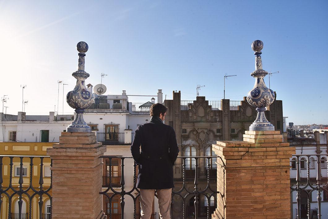 La terrasse de notre airbnb à Séville