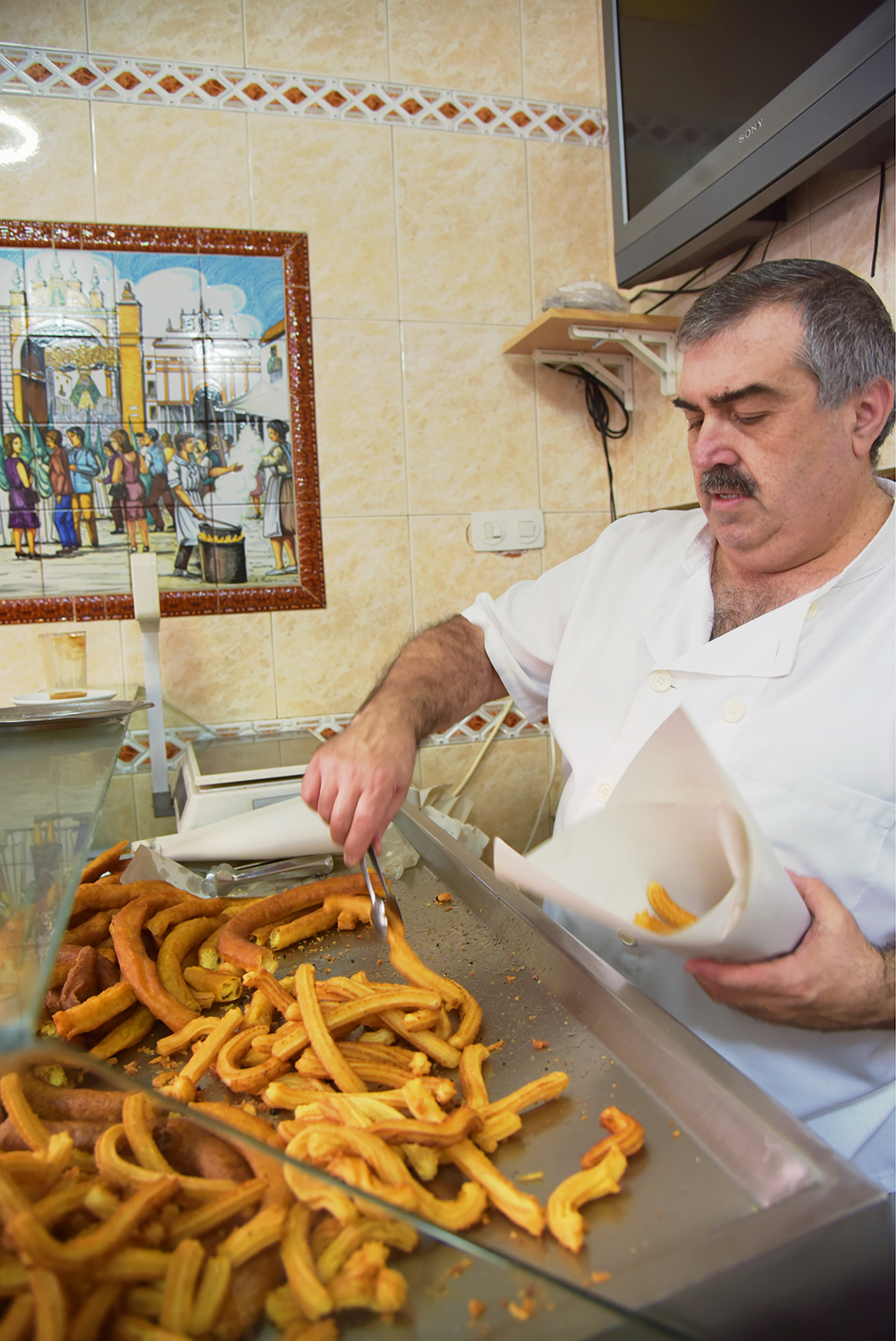 Churros à Séville - Churrería La Esperanza