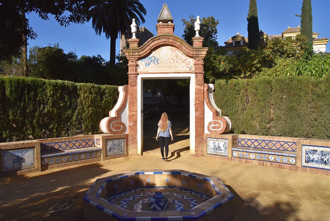 Alcazar et le Jardin Murillo à Séville
