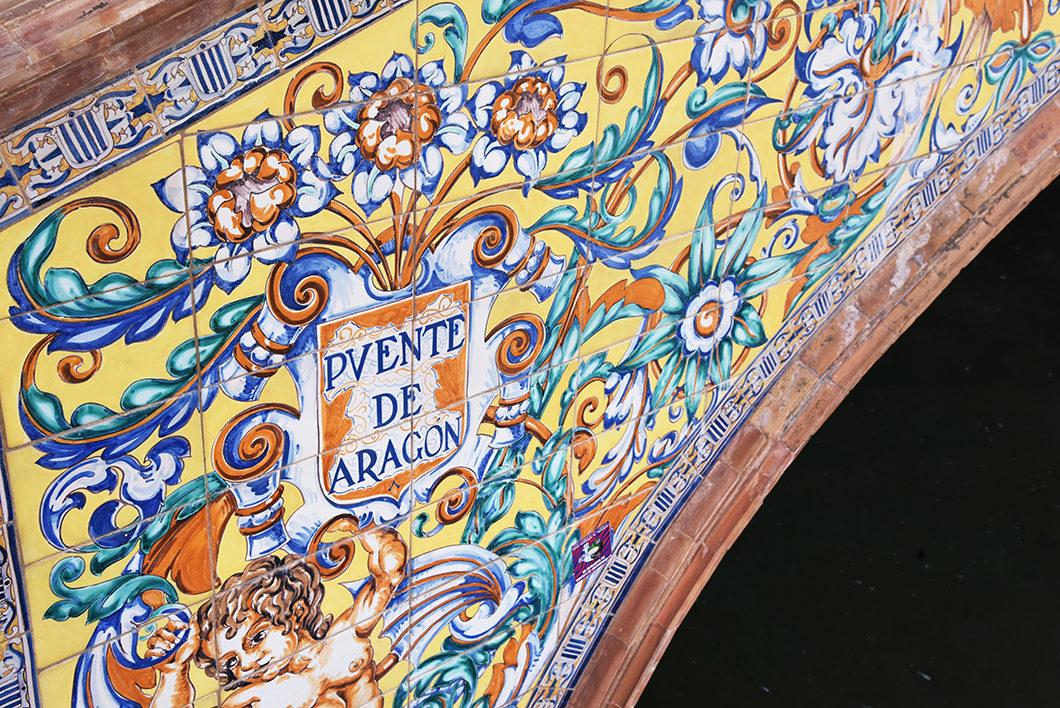 Les détails de la Plaza de España