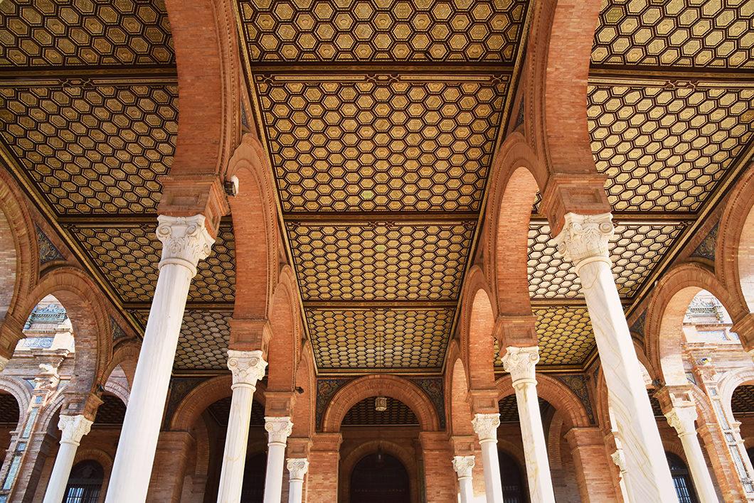 Visiter Séville et la place d'Espagne en hiver