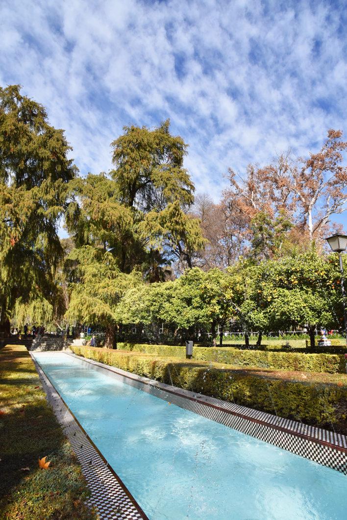 Le beau Parc Maria Luisa à Séville