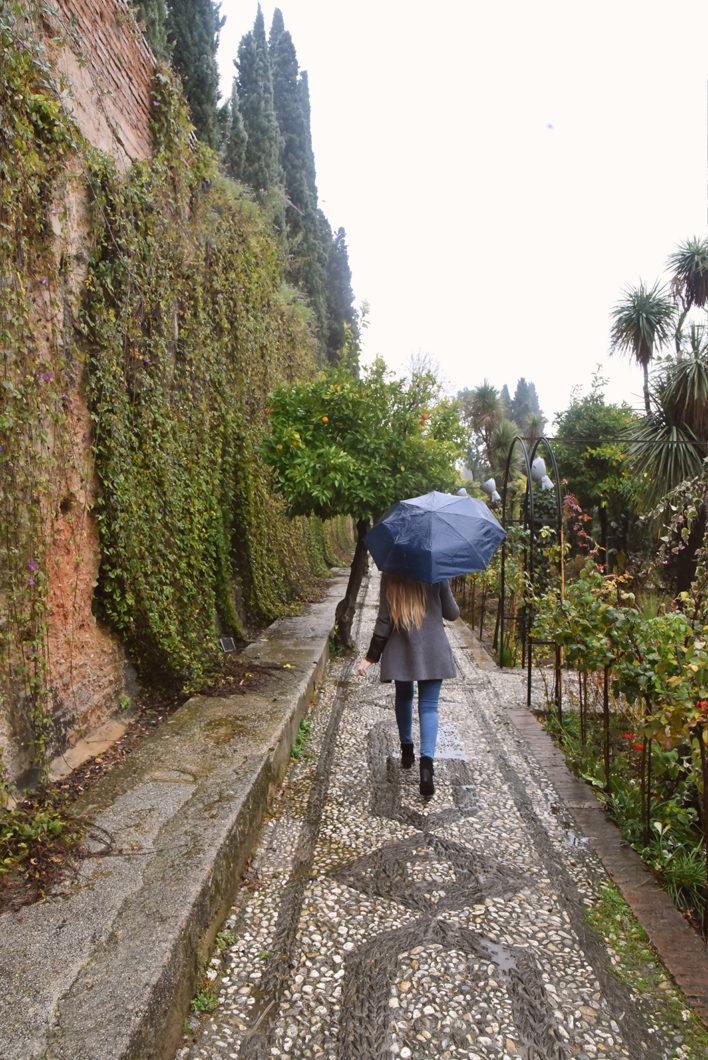 Se balader dans les jardins de l'Alhambra