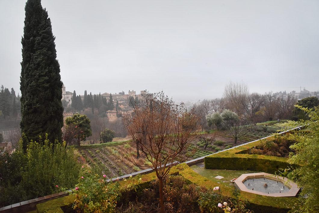 Les beaux jardins de l'Alhambra