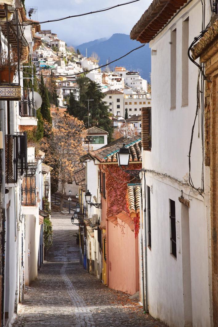 Les jolies rues de Grenade en Espagne