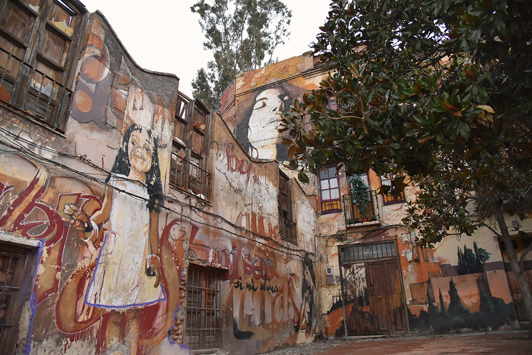 Street art dans les rue de Grenade en Espagne