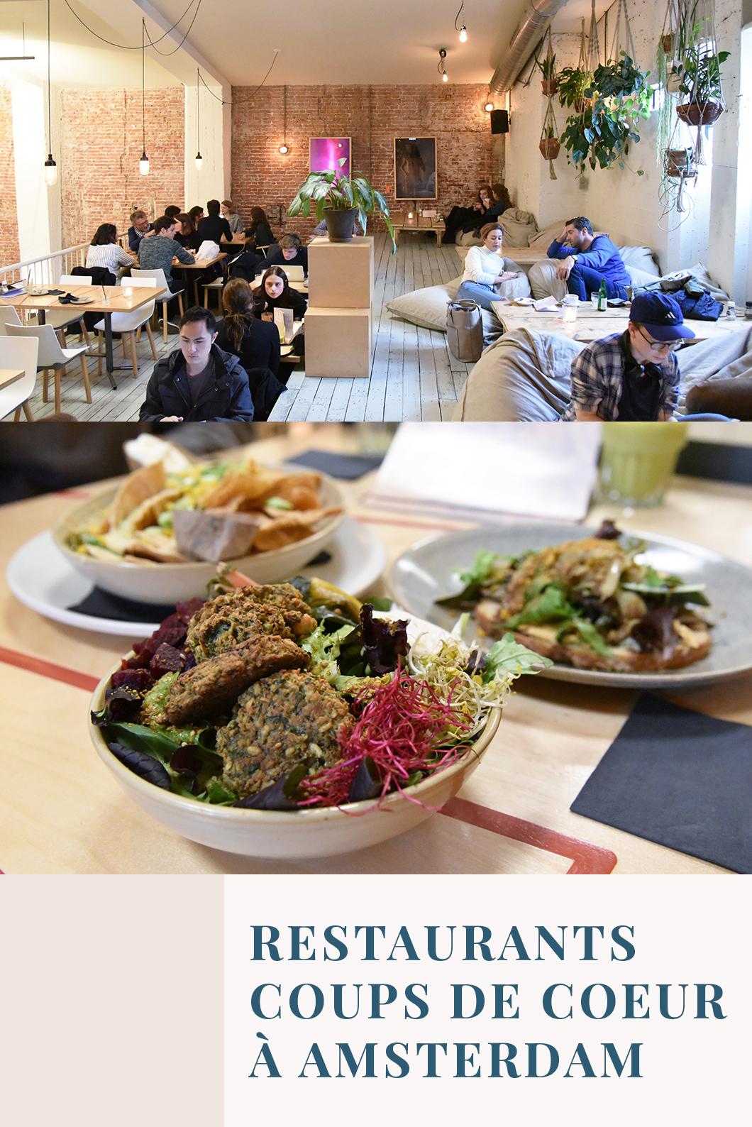 Nos restaurants coups de coeur à Amsterdam
