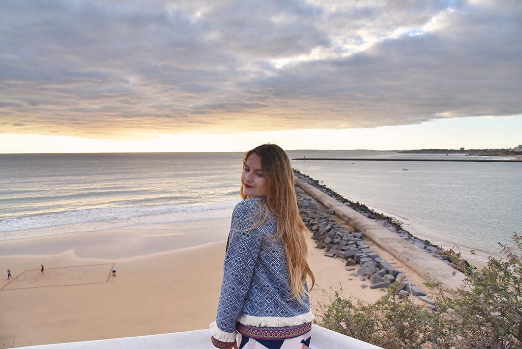 La praia do Molhe en Algarve, spot pour le coucher de soleil