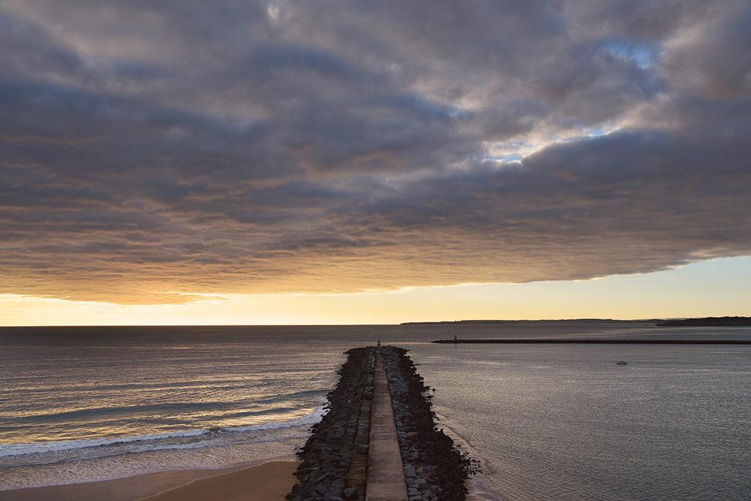 Point de vue sur la praia do Molhe en Algarve