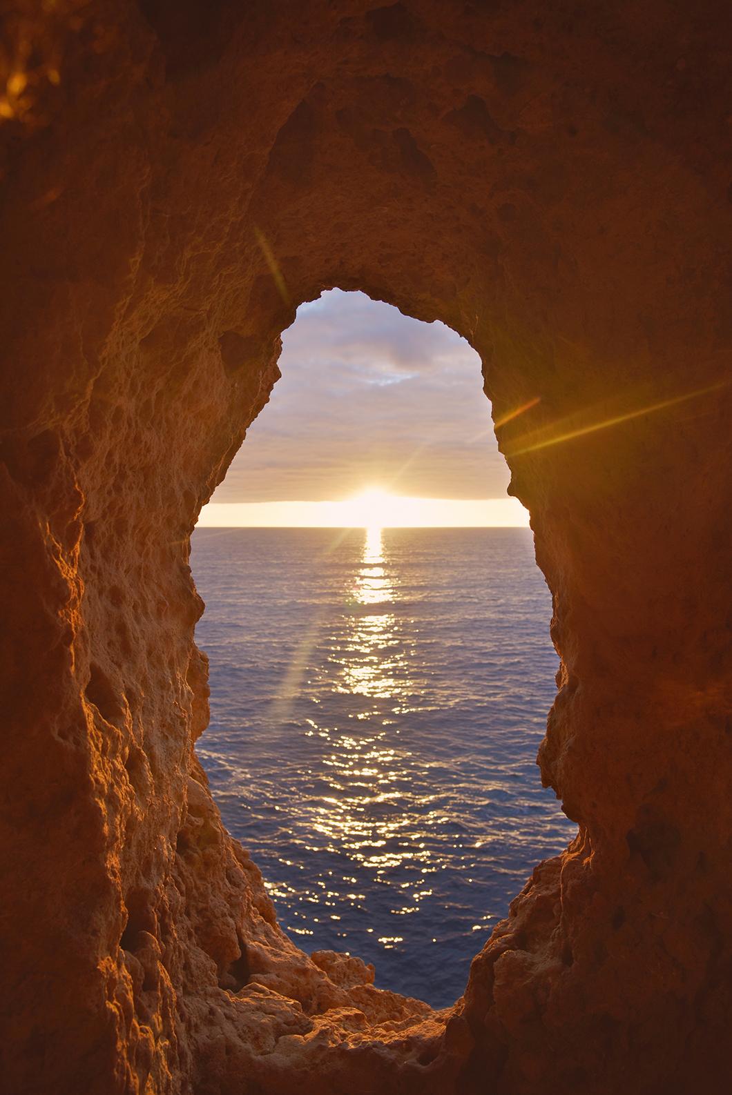 Algar Seco, le meilleur spot pour le coucher du soleil en Algarve en hiver