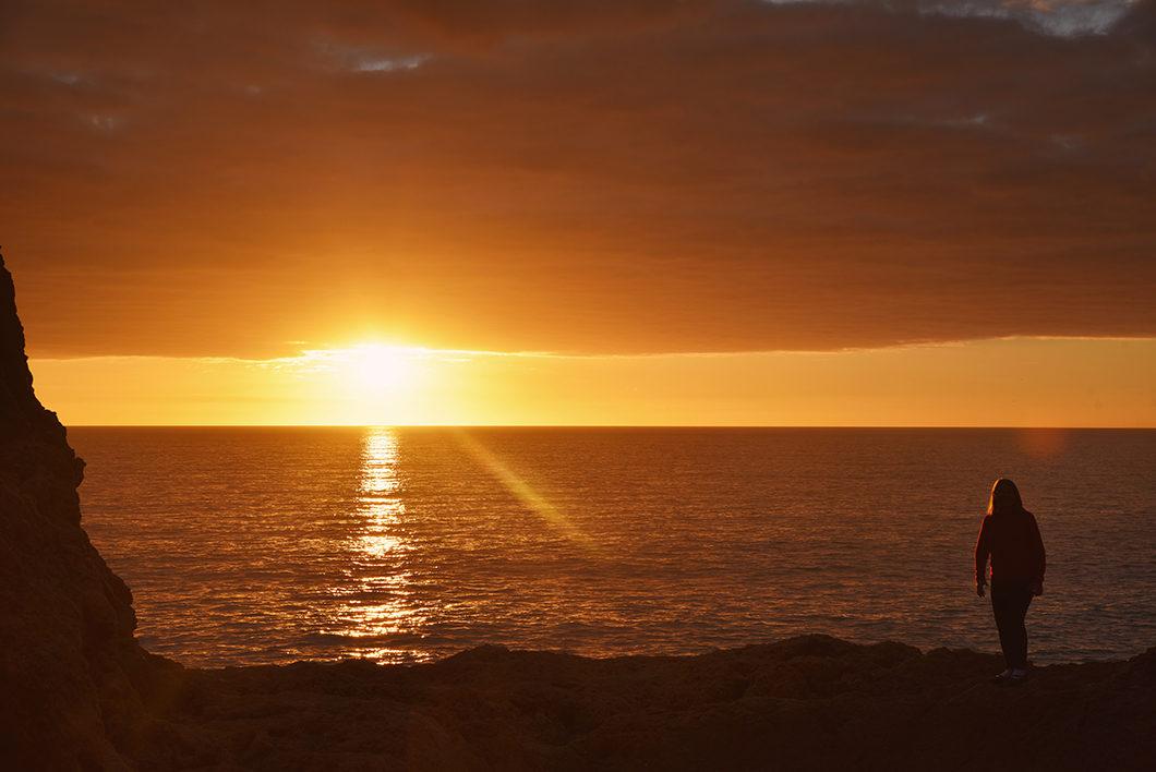 Où aller pour le coucher de soleil en Algarve au Portugal ? Algar Seco