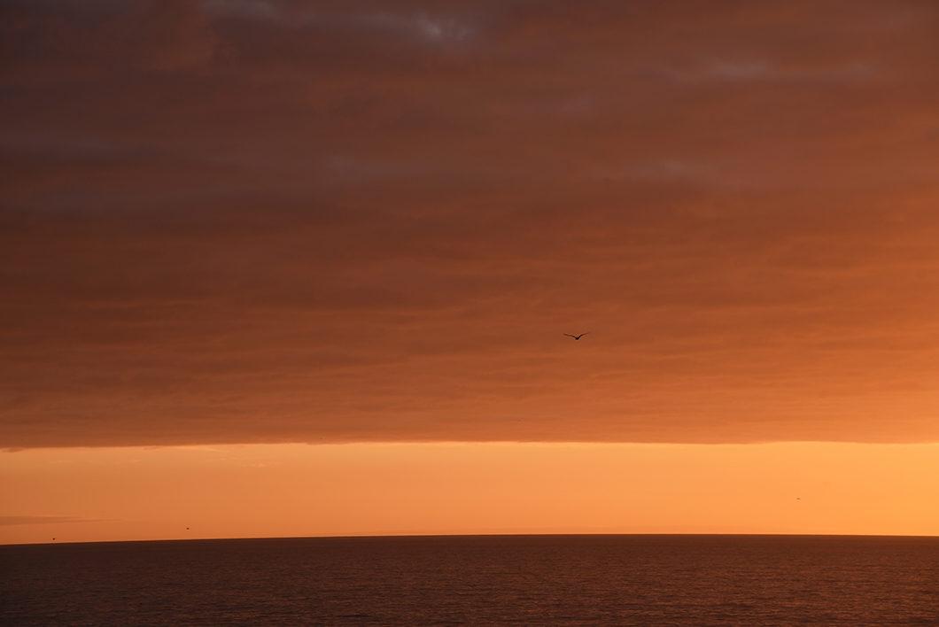 Coucher de soleil à Algar Seco en Algarve