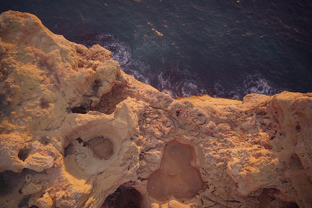 Vue aérienne d'Algar Seco au Portugal