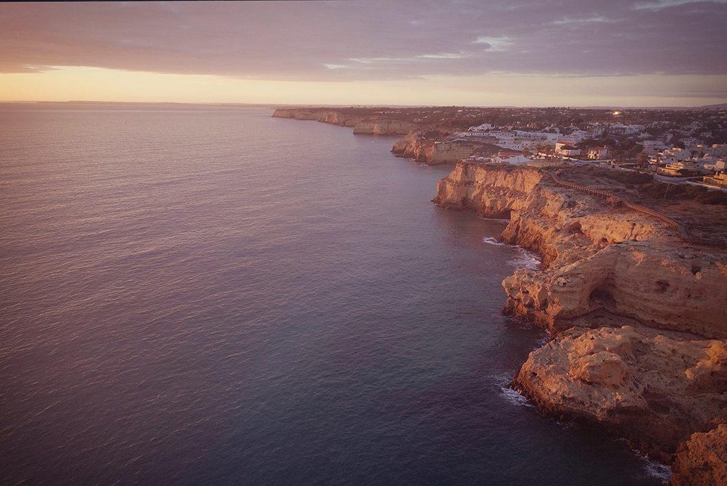 Coucher de soleil à Algar Seco, coup de coeur en Algarve