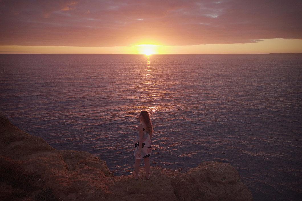 Algar Seco, super vue sur les falaises au coucher de soleil