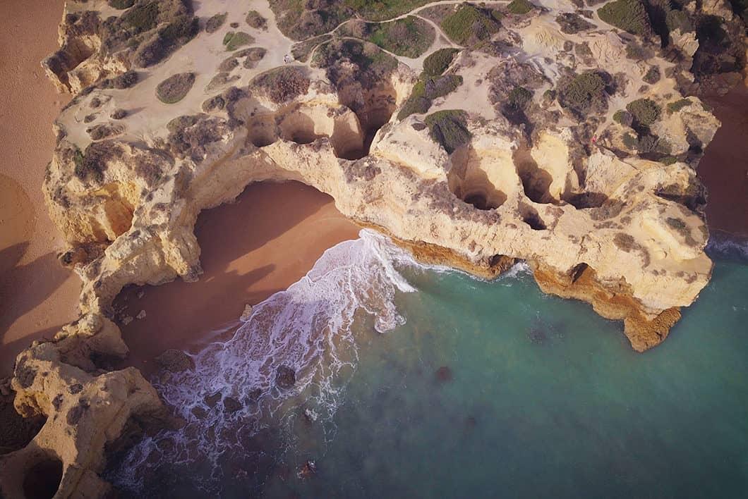 Praia do Castelo, Les meilleurs point de vue sur les Falaises en Algarve