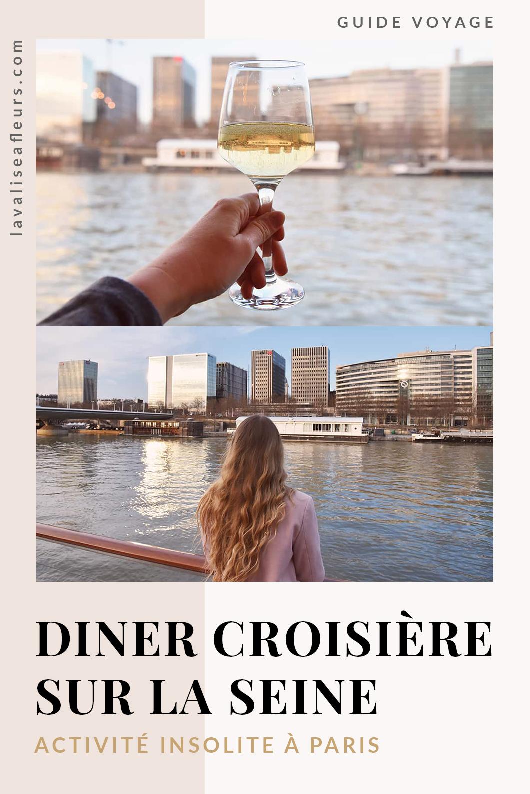 Diner croisière sur la Seine, activité insolite à Paris