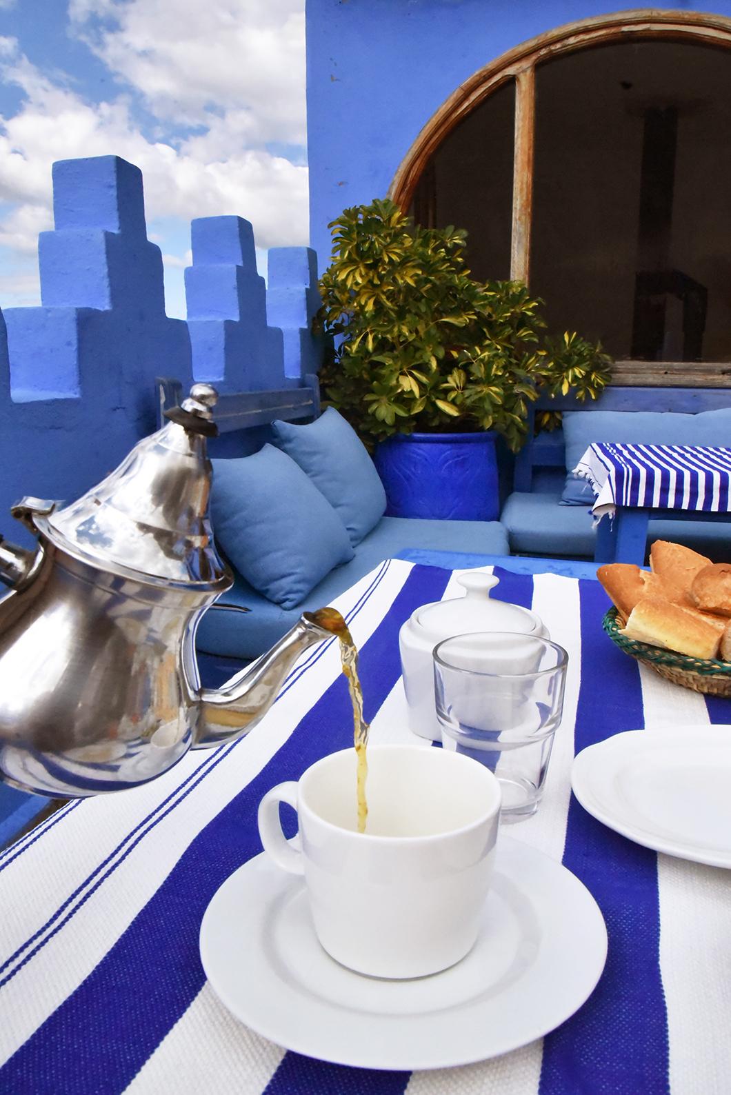Dar Zambra - Petit déjeuner en terrasse à Chefchaouen